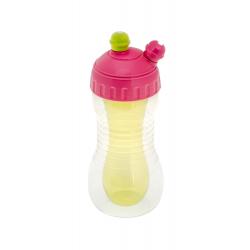 Brother max - Sportovní lahev s chladicím tělem na 2 nápoje - růžová/zelená