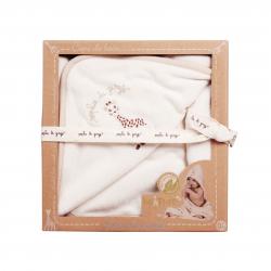 Vulli Osuška s kapucí So 'Pure, 75x75 cm 100% organická bavlna