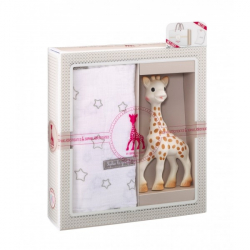 Vulli Dárkový set - žirafa Sophie & zavinovací plena