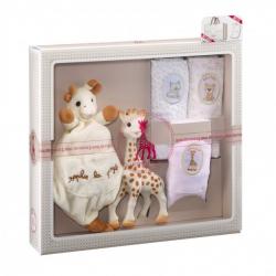 Vulli Dárkový set - žirafa Sophie + mazlík + set 3 plen
