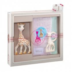 Vulli Dárkový set - žirafa Sophie & pouzdro na zápisky & kousátko v barvě Ivory