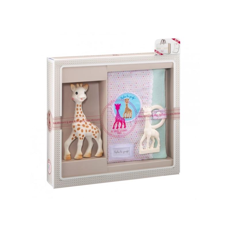 741d9eb2018 Vulli Dárkový set - žirafa Sophie   pouzdro na zápisky   kousátko v barvě  Ivory