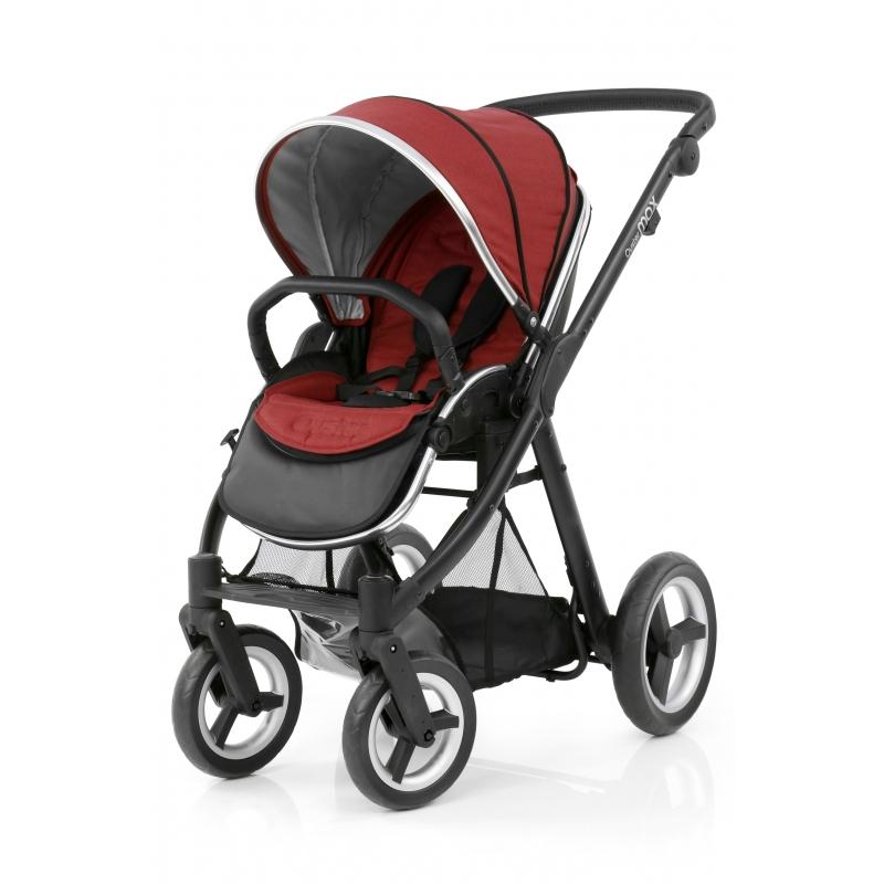 BabyStyle kočárek Oyster Max Black/Tango Red 2018