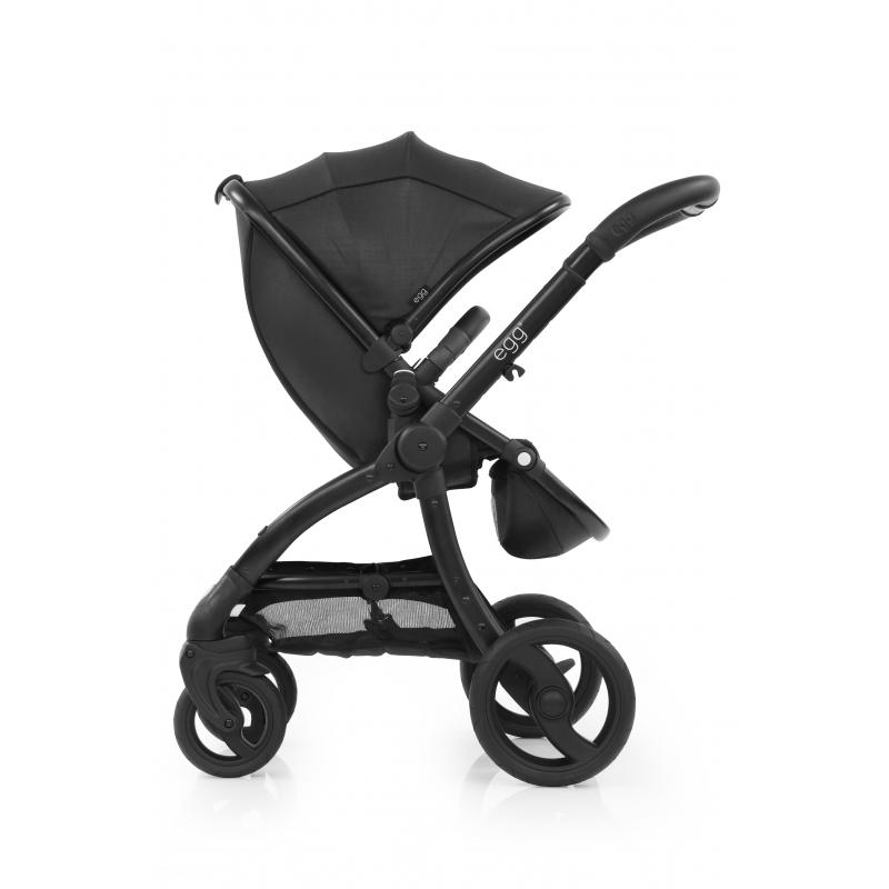 BabyStyle EGG kočárek Jurassic Black/Black rám 2018 + taška + podložka