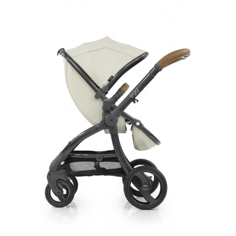 BabyStyle EGG kočárek Jurassic Cream/Gun Metal rám 2019 + taška + podložka