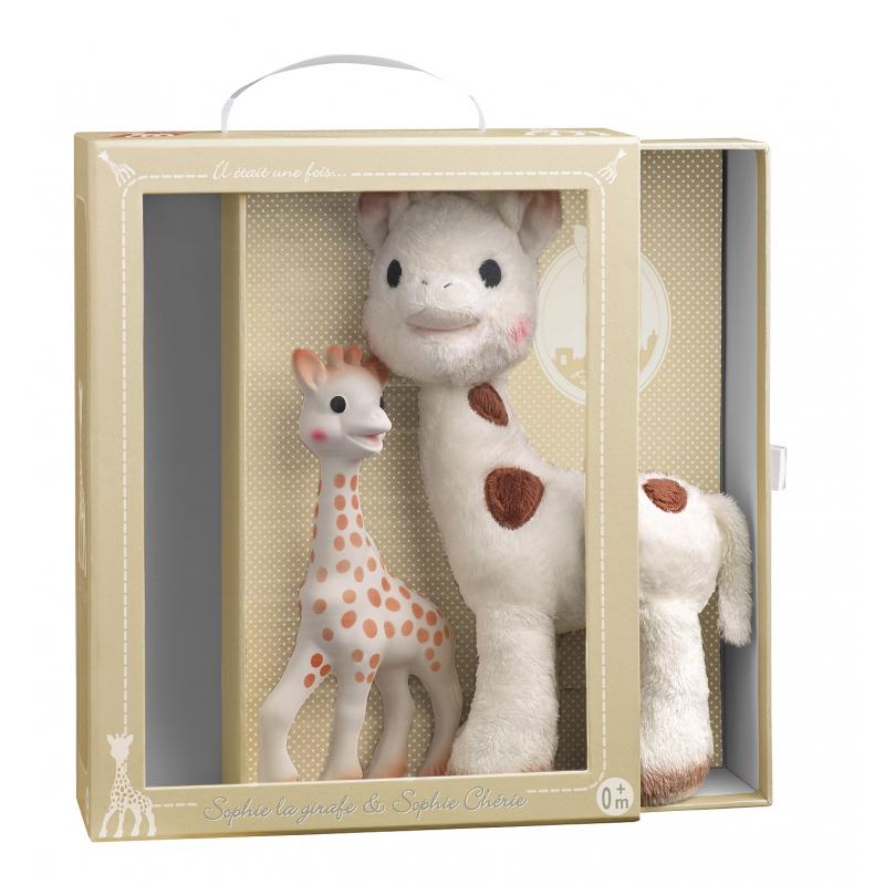 d79639636d8c Vulli Set žirafa Sophie + plyšová žirafka Sophie Chérie - BABYHOLDING