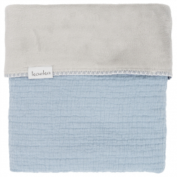 Koeka Deka Elba teddy 75x100 - soft blue/silver grey