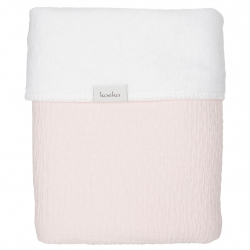 Koeka Deka Elba teddy 75x100 - waterpink/white