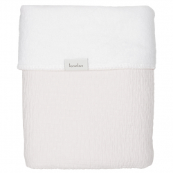 Koeka Deka Elba teddy 75x100 - pebble/white