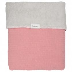 Koeka Deka Elba teddy 75x100 - old pink/silver grey