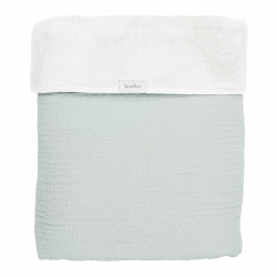 Koeka Deka Elba teddy 75x100 - soft mint/white