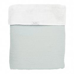 Koeka Deka Elba teddy 75x100 - soft mint/white