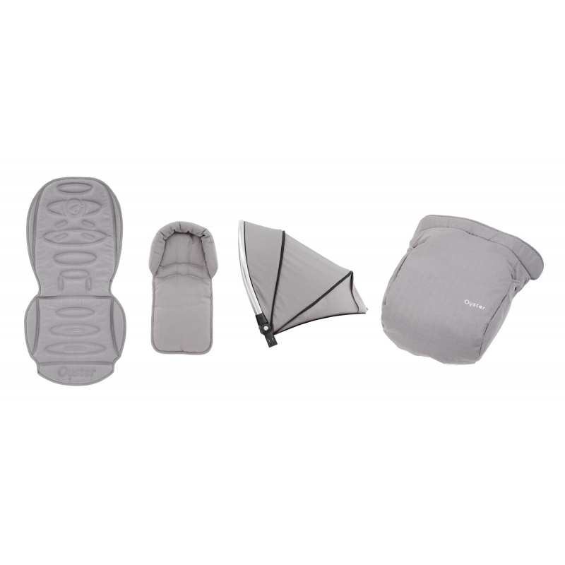 BabyStyle Oyster 2/ Max textilní set Pure Silver 2019