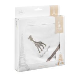 Vulli Osuška s kapucí žirafa Sophie, 75 x 75 cm