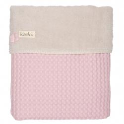Koeka Deka Oslo 100x75cm, waffle/teddy - old baby pink/pebble