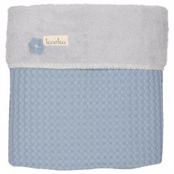 Koeka Deka Oslo 100x75cm, waffle/teddy - soft blue/silver grey