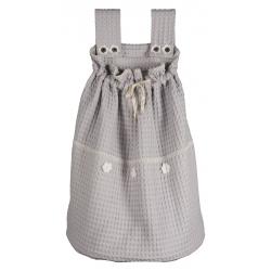 Koeka Pytel na hračky Amsterdam - silver grey/white