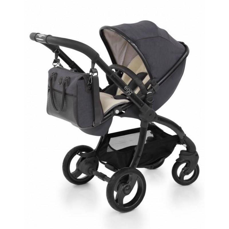 BabyStyle EGG kočárek + taška + podložka Quantum Grey 2018