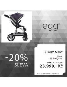 BabyStyle EGG kočík Storm Grey / Mirror rám  2017