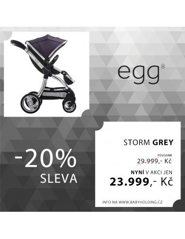 EGG kočárek STORM GREY / MIRROR rám  2015