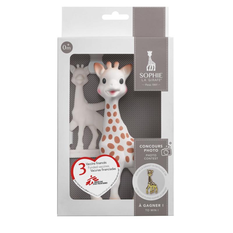 63062315728 Vulli Žirafa Sophie dárková sada (žirafa + kousátko) - BABYHOLDING