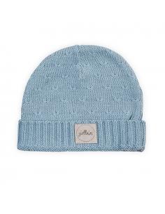 Jollein Čepice 2 - 9 měsíců Soft knit soft blue