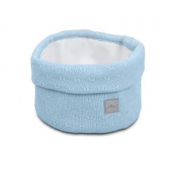 Jollein Košík Soft knit soft blue