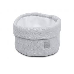 Jollein Košík Soft knit light grey