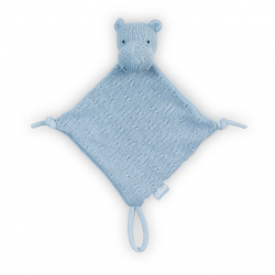 Jollein Mazlík Soft knit hippo soft blue
