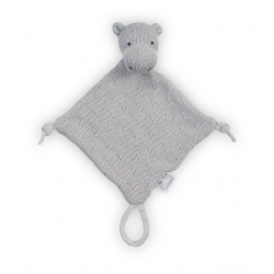 Jollein Mazlík Soft knit hippo light grey