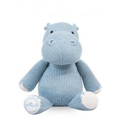 Jollein Pletený hroch Soft knit hippo soft blue