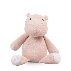 Jollein Pletený hroch Soft knit hippo creamy peach