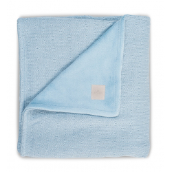 Jollein Deka 100x150 Soft knit soft blue / teddy