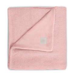 Jollein Deka 100x150 Soft knit creamy peach / teddy
