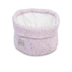 Jollein Košík Confetti knit vintage pink