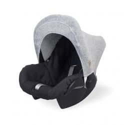 Jollein Stříška na autosedačku Confetti knit grey