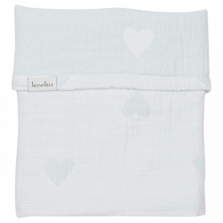 Koeka Deka Altea Hearts 75x100 - soft mint