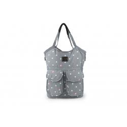 7AM Enfant Barcelona taška, Grey Polkadots