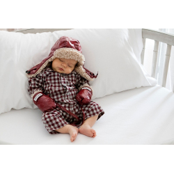 7AM Enfant Polar rukavice, Bordeaux