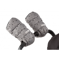 7AM Enfant WarMMuffs rukavice na kočárek Heather Grey Stars