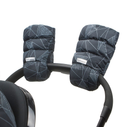 7AM Enfant WarMMuffs rukavice na kočárek Black Geo