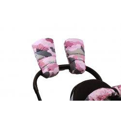 7AM Enfant WarMMuffs rukavice na kočárek Camo Pink