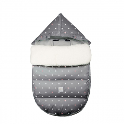 7AM Enfant LambPOD fusak Grey Polkadots