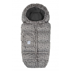 7AM Enfant Blanket 212 Evolution fusak Heather Grey Stars