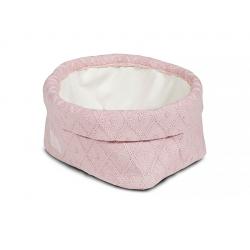 Jollein Košík Diamond knit vintage pink