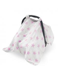 Jollein Clona na autosedačku Little star pink