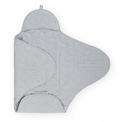 Jollein Zavinovačka Graphic quilt grey 100x105cm