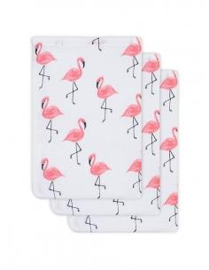 Jollein Hydrofilní žínka Flamingo, 3 ks