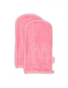 Jollein Žínka velvet terry Sweet bunny coral pink, 2ks