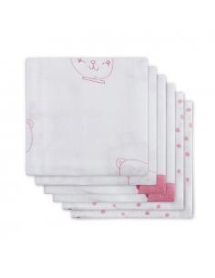 Jollein Hydrofilní plena Funny bear pink, 6 ks